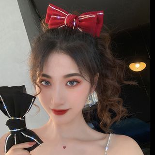 Pop Lop - Rhinestone Bow Hair Clip