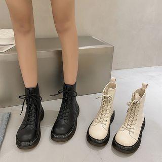 時尚麥樂 - 厚底繫帶及踝靴