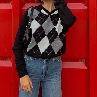BrickBlack - 菱格毛衣