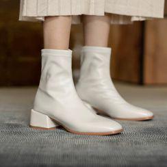 Comof - Block Heel Short Boots