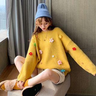 Hibisco - Flower Applique Sweater