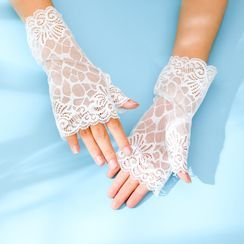 Sohma - Lace Fingerless Gloves