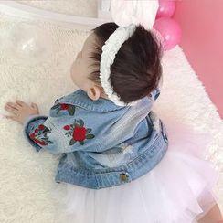 MOM Kiss - Baby Washed Denim Jacket