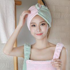 Soldana - Color Panel Coral Fleece Hair Drying Towel