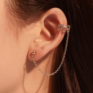 Cheermo - Crown Chained Earring