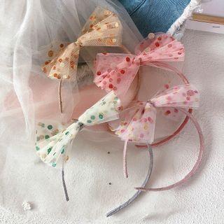 Sweet la Vie - Kids Dotted Mesh Bow Headband