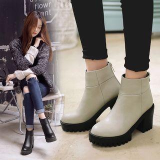佳美 - 粗跟厚底踝靴