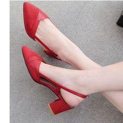 Freesia - 尖头粗跟凉鞋