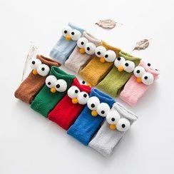 Cloud Femme - Kids Coral Fleece Monster Eye Socks