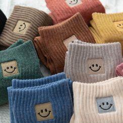 Lychee - Set of 5: Smiley Face Socks