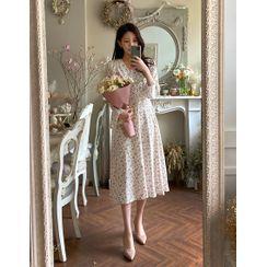 Dali hotel - 'ROOM 508' Bell-Cuff Long Floral Dress