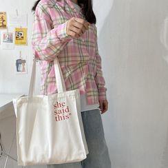 TangTangBags - 字母帆布手提袋
