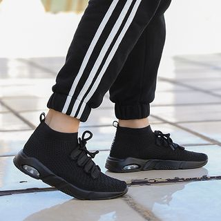 Auxen - 针织系带休閒鞋