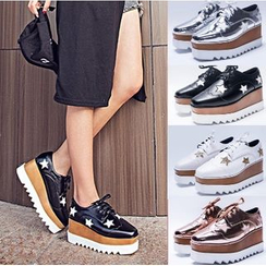 安若 - 星星厚底牛津鞋