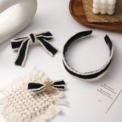Agape - Bow Fabric Hair Clip / Headband