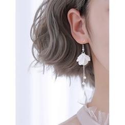 Gaya - 925 Sterling Silver Petal Hook Earrings