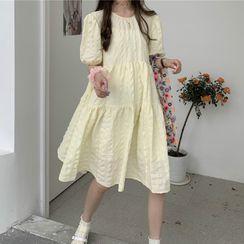 Maisee - Puff-Sleeve Shift Dress