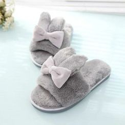 Aneka - Rabbit Ear Furry Slippers