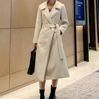 YUMU - Tie-Waist Trench Coat