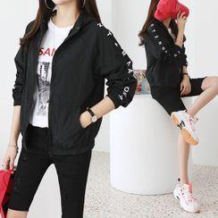 Seoul Fashion - Letter Windbreaker Jacket