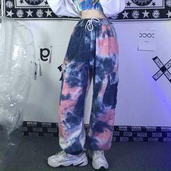 LINSI - 紥染工装裤