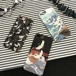 Wild Pony - Traditional Crane Print Mobile Case - iPhone XS Max / XS / XR / X / 8 / 8 Plus / 7 / 7 Plus / 6s / 6s Plus