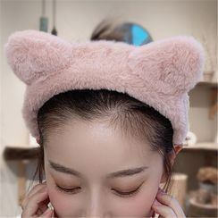 Diplet - 貓耳朵毛絨洗面頭帶