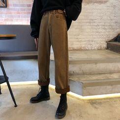 Coline - Fleece Lining Corduroy Pants
