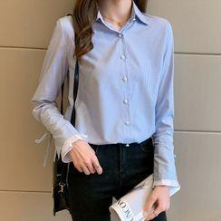 Shawshanna - Bell-Sleeve Striped Shirt