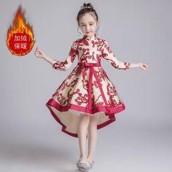 Doveark - Kids 3/4-Sleeve Embroidered Qipao