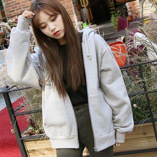 Frigga - Fleece-Lined Hooded Zip-Up Jacket