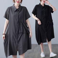 RAIN DEER - Short-Sleeve Shirt Dress