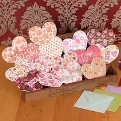 DAILYCRAFT - Printed Heart Shaped Greeting Card (various designs)