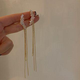 Calypso - Rhinestone Fringed Earring