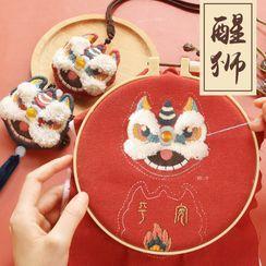 DOLLIY - 刺绣狮子挂饰DIY材料包