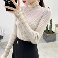 Norte - Long-Sleeve Mock-Neck Knit Top