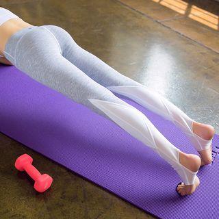 Cara Cloud - 網紗拼接踩腳瑜伽褲