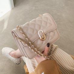 Shinian(シニアン) - Quilted Flap Crossbody Bag