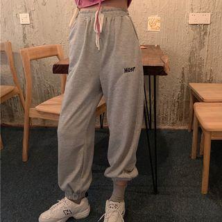 Softpea - 刺绣宽松运动裤