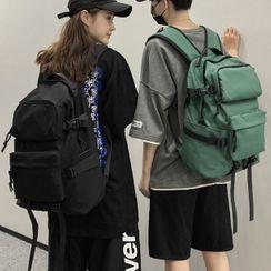 SUNMAN - Plain Multi-Section Zip Backpack