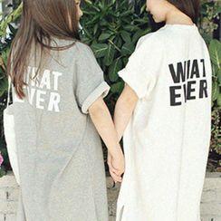 Cuckoo - Kids Lettering Short-Sleeve T-Shirt Dress