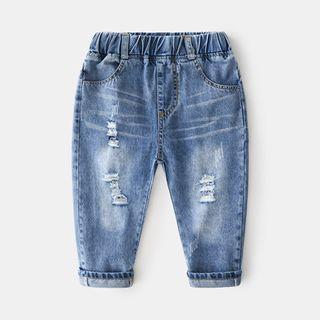 Seashells Kids - Kids Ripped Harem Jeans