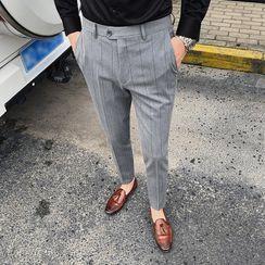 Blueforce - Pinstriped Cropped Dress Pants