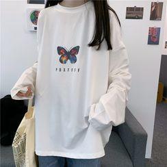 Honey River - Long-Sleeve Printed Oversize T-Shirt