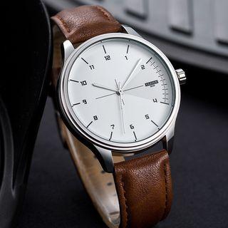 YAZOLE - 复古仿皮手表