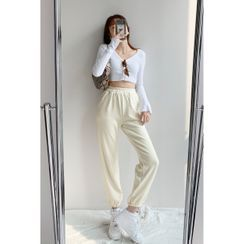 Shira - Corduroy Loose-Fit Jogger Pants