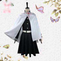 Mikasa - Demon Slayer: Kimetsu no Yaiba Kanao Tsuyuri Cosplay Costume / Wig / Set