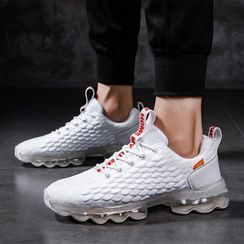 Auxen - Chunky Lace Up Mesh Sneakers