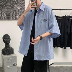 Oakjam - 短袖条纹衬衫