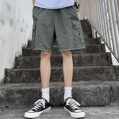 AXEN - 散边下襬工装短裤